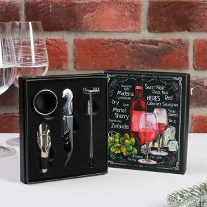 Набор для вина в картонной коробке Merlot, 14 х 16 см