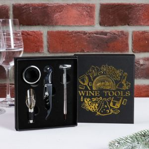 Набор для вина в картонной коробке Wine tools, 14 х 16 см