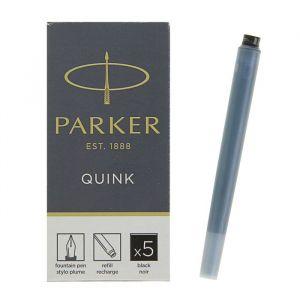 Картридж чернильный Parker для перьевой ручки с чёрными чернилами, 5шт