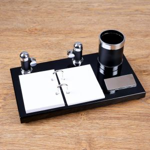 Набор настольный 3в1 (визитница, карандашница, держатель для календаря) 4428141