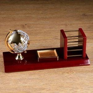 Набор настольный 3в1 (глобус, карандашница, лоток д/скрепок) 14*31см 1527976