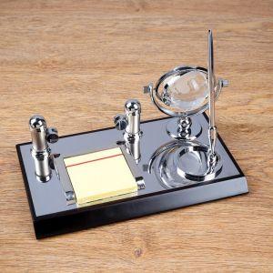 Набор настольный 4в1 (блок д/бумаг, визитница, ручка, глобус) 4428138