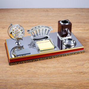 Набор настольный 5в1 (глобус,визитница,карандашница микс,скреп.,лоток для бумаги) 23*40,5см 1527979