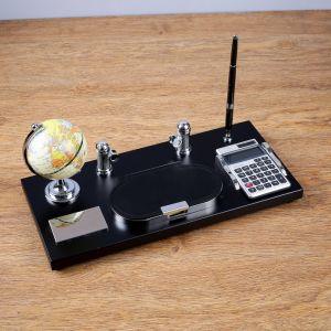 Набор настольный 5в1 (глобус+блок д/бумаги+подставка+калькулятор+ручка) 16*36см 118756