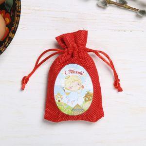 Пасхальный мешочек с пожеланиями «Ангелочек с вербой»