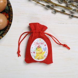 Пасхальный мешочек с пожеланиями «Цыплёнок с бабочкой»