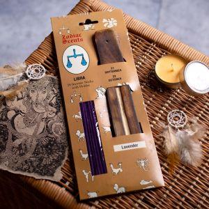 """Ароманабор ароматы зодиаков """"Весы"""" (20 палочек с деревянной подставкой) 2358402"""