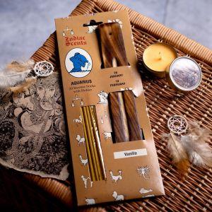"""Ароманабор ароматы зодиаков """"Водолей"""" (20 палочек с деревянной подставкой) 2358404"""