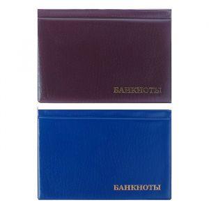 Альбом для Бон 125 х 185 мм, на 16 банкнот, обложка ПВХ, микс