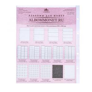 Лист Professional для хранения бон (банкнот) на 3 ячейки, формат Optima, размер 200х250 мм