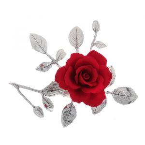 """Декоративная роза """"Серебряные листики"""""""
