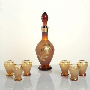 Набор для водки Golden flowers, графин 650 мл и 6 рюмок 60 мл