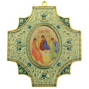 """Крестообразная икона в авто """"Святая Троица"""""""