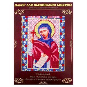 Вышивка бисером «Святая Мученица Маргарита», размер основы: 21,5?29 см
