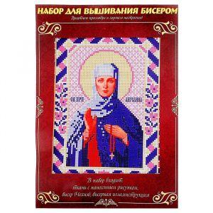 Вышивка бисером «Святая Преподобная Ангелина Сербская», размер основы: 21,5?29 см