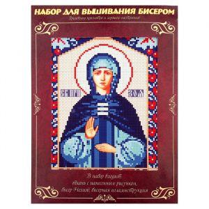 Вышивка бисером «Святая Преподобная Зоя», размер основы: 21,5?29 см