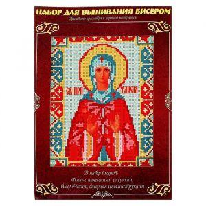 Вышивка бисером «Святая Преподобная Таисия», размер основы: 21,5?29 см