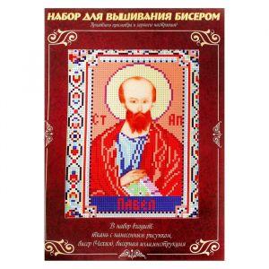Вышивка бисером «Святой Апостол Павел», размер основы: 21,5?29 см