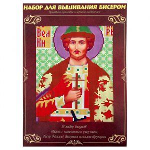 Вышивка бисером «Святой Великий Князь Игорь», размер основы: 21,5?29 см