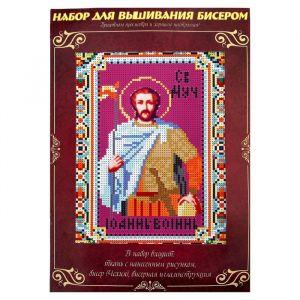 Вышивка бисером «Святой мученик Иоанн Воин», размер основы: 21.5 ? 29 см