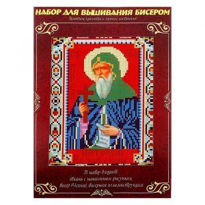 Вышивка бисером «Святой Мученик Преподобный Антоний Печерский», размер основы: 21,5?29 см