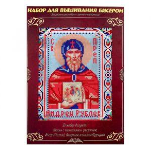 Вышивка бисером «Святой Преподобный Андрей Рублев», размер основы: 21,5?29 см
