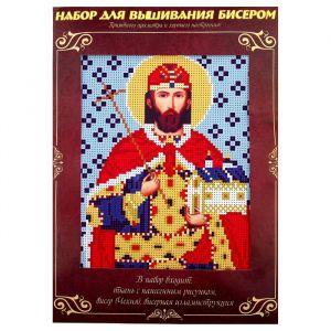 Вышивка бисером «Святой Стефан (Степан)», размер основы: 21,5?29 см