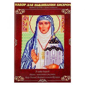 Вышивка бисером «Святая Преподобномученица Великая Княгиня Елисавета», размер основы: 21,5?29 см