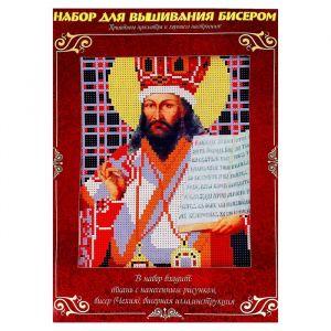 Вышивка бисером «Святой Митрополит Дмитрий Ростовский», размер основы: 21,5?29 см