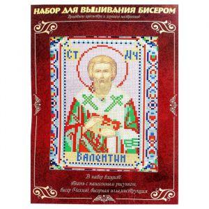 Вышивка бисером «Святой Мученик Валентин», размер основы: 21,5?29 см