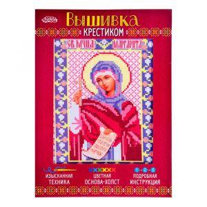 Набор для вышивания крестиком «Святая Мученица Маргарита» размер основы: 21,5?29 см