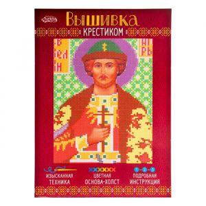 """Набор для вышивания крестиком """"Святой Великий Князь Игорь"""" размер основы 21,5*29 см 2053115"""