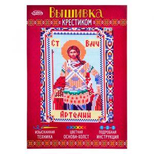 """Набор для вышивания крестиком """"Святой Великомученик Артемий"""" размер основы 21,5*29 см 2055904"""