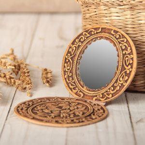 Зеркало «Цветы», на шарнирах, береста 1690422