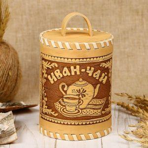 Туес «Иван-чай», 8,5?8,5?14 см, береста 3312853