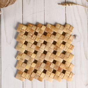 Подставка под горячее «Салфетка плетенная», 14х14 см, береста 4859778