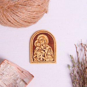 Икона «Божьей матери», 4,5?6 см, береста   4231887