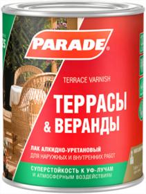 Лак Parade Classic L25 Террасы & Веранды 10л Полуматовый, Алкидно-Уретановый, Бесцветный / Парад Классик L25