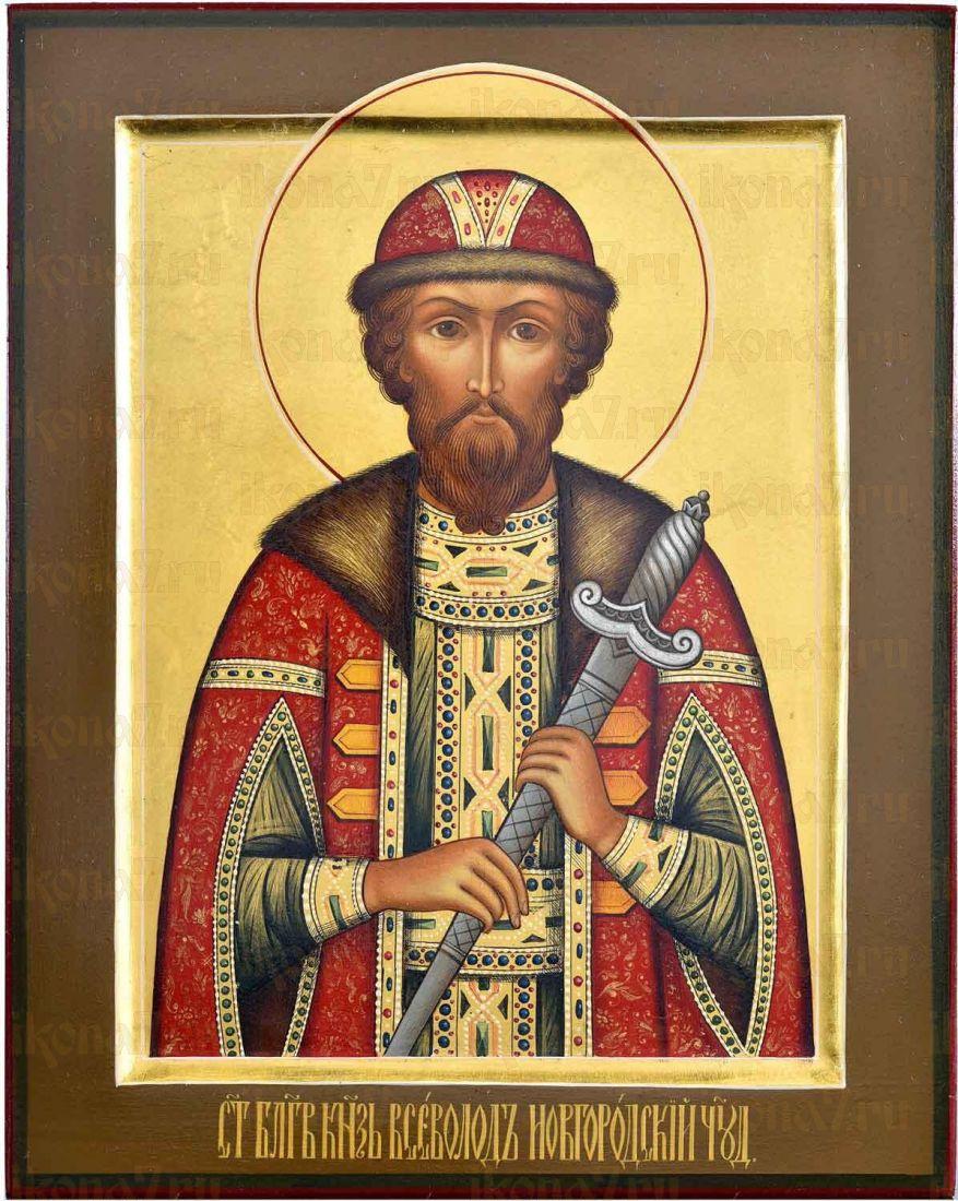 Икона Благоверный князь Всеволод Псковский