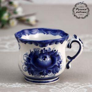 """Чашка """"Ромашка"""", гжель, фарфор,  200 мл, 9 см 4974101"""