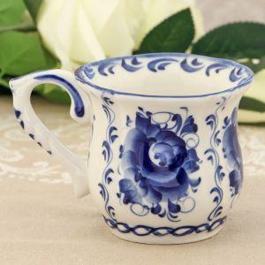 Чашка «Пион», 13?9?9 см, гжель 2292463
