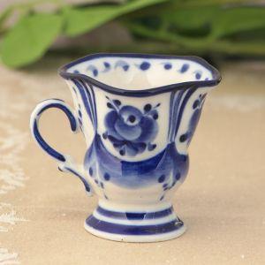 Чашка кофейная «Силуэт» 7,5х6х6 см гжель 697006