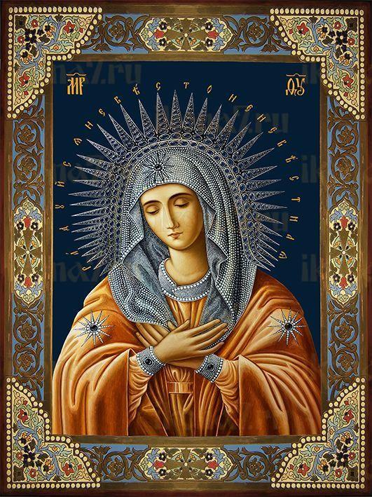 Икона Умиление Божией Матери Дивеевское