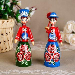 Сувенир «Кукла», городецкая роспись, микс 1210172