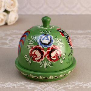 Маслёнка, 13 х14 см, городецкая роспись 5018838