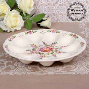 Тарелка под яйца «Степные цветы», 25?3,5 см, 1 сорт 3371309