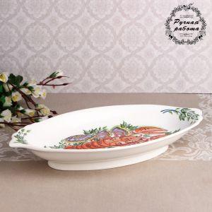 Блюдо малое «Донские раки»  33,5х17,5 х5 см,1 сорт 4839823