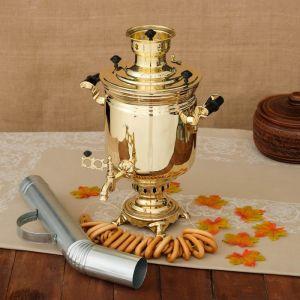 Самовар «Золото», банка, 5 л, жаровой, труба входит в комплектацию 3837741