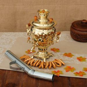 Самовар «Золото», желудь, 2,5 л, жаровой, труба входит в комплектацию 3837744