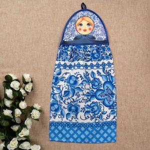 Полотенце «Матрёшка», гжель, сувенирное 3292741